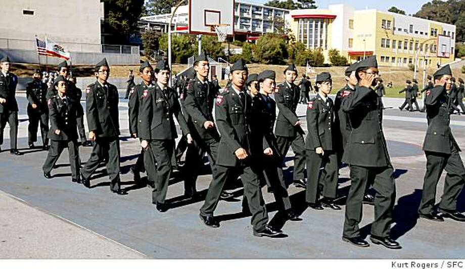 The San Francisco Unified School District had about 1,600 students in the JROTC program. San Francisco voters will vote on Nov. 4 on whether to reinstate the program the school board ended. Photo: Kurt Rogers, SFC