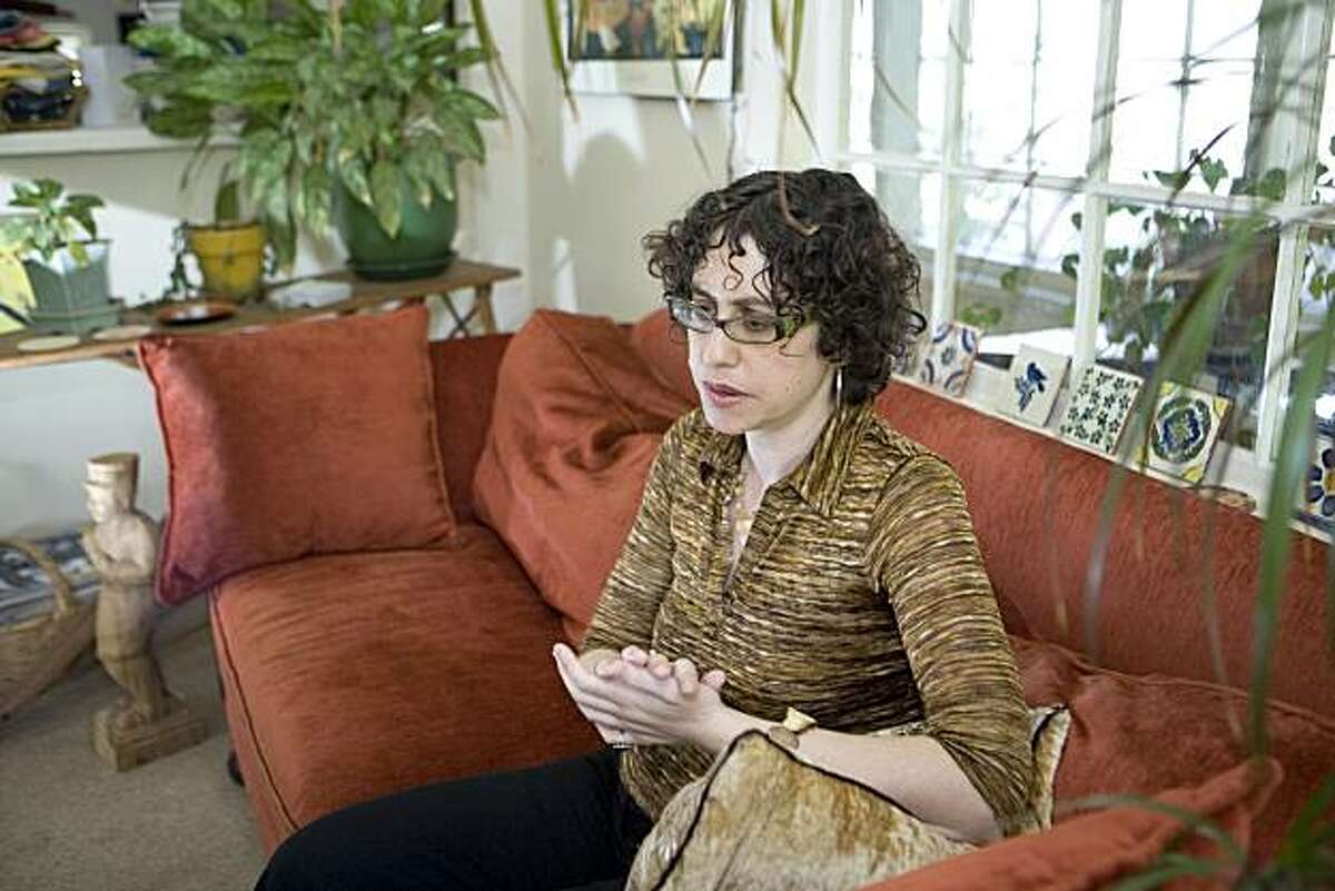 Jessica Bernstein, Psy.D., talks about alternative diabetes treatments in her Oakland home on Thursday, April 8, 2010. Bernstein, is a psychotherapist and Type 1 diabetic who is giving a controversial lecture on the subject of current methods of approaching diabetics care with the goal of controlling the condition. The Juvenile Diabetes Research Foundation's Greater Bay Area Chapter will present the evening with Bernstein, who is also making a documentary film about diabetes titled