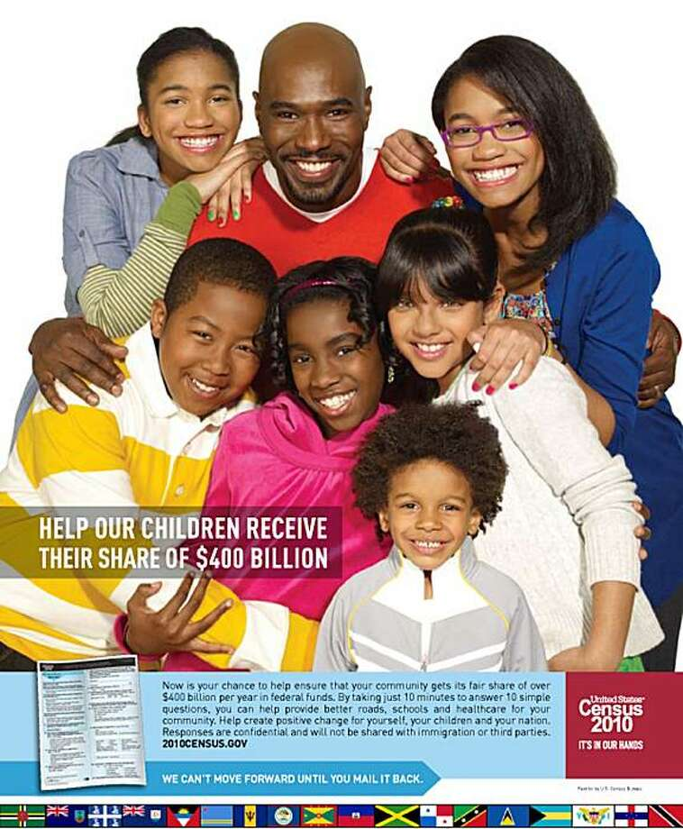 This image provided by the U.S. Census Bureau shows an advertisement promoting minority involvement in the 2010 Census. During the 2000 Census, when the bureau used paid advertisements for the first time in its history, critics accused the agency of adopting an overly generic one-size-fits-all approach in its efforts to reach minorities. Photo: U.S. Census Bureau, AP