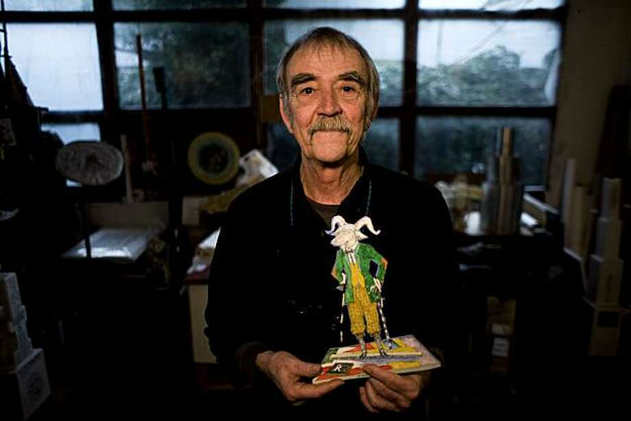 William Thomas Wiley, 72, poses for a portrait in his studio on Friday Feb. 26, 2010 in Marin, Calif. Photo: Jessica Pons, The Chronicle