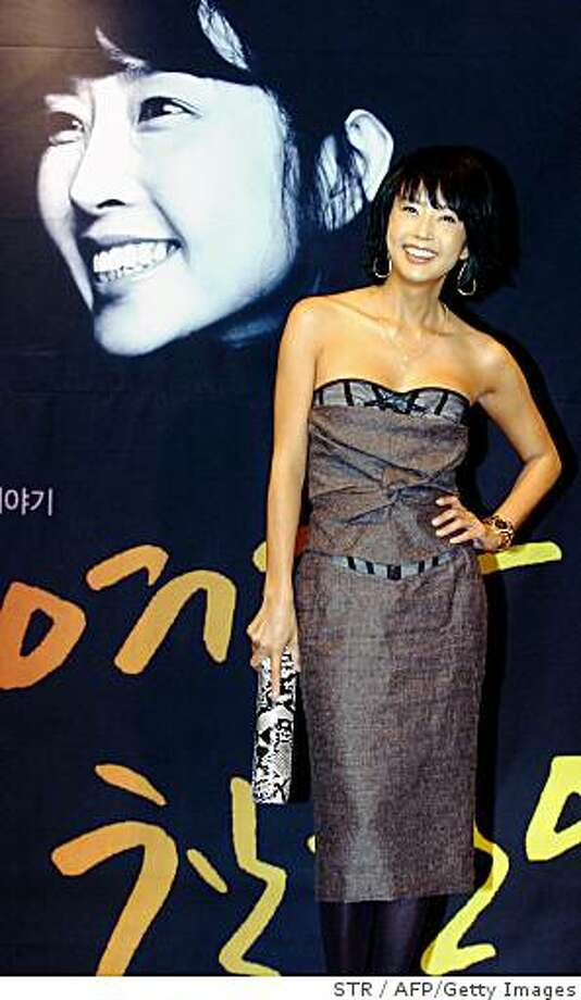 (FILES) Photo taken on December 19, 2006 in Seoul shows South Korean actress Choi Jin-Sil. Choi who had been dogged by Internet rumours over the suicide of an actor has apparently taken her own life, police said.   REPUBLIC OF KOREA OUT      AFP PHOTO/DONG-A ILBO (Photo credit should read STR/AFP/Getty Images) Photo: STR, AFP/Getty Images