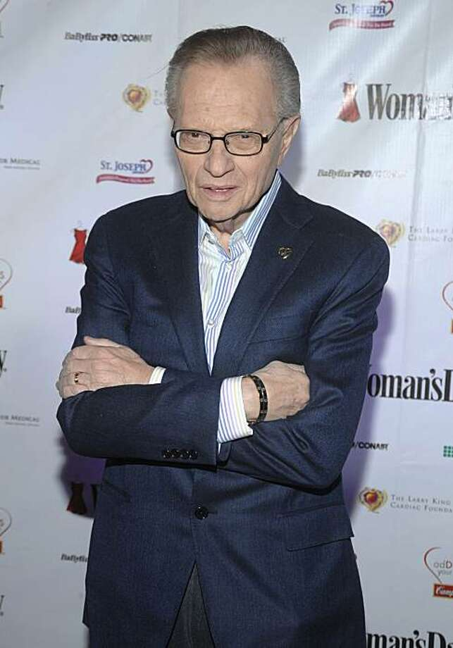 "FILE - In this Feb. 11, 2009 file photo, TV Personality Larry King attends the Woman's Day 6th annual ""Red Dress Awards""  benefiting The Larry King Cardiac Foundation in New York. Photo: Peter Kramer, AP"