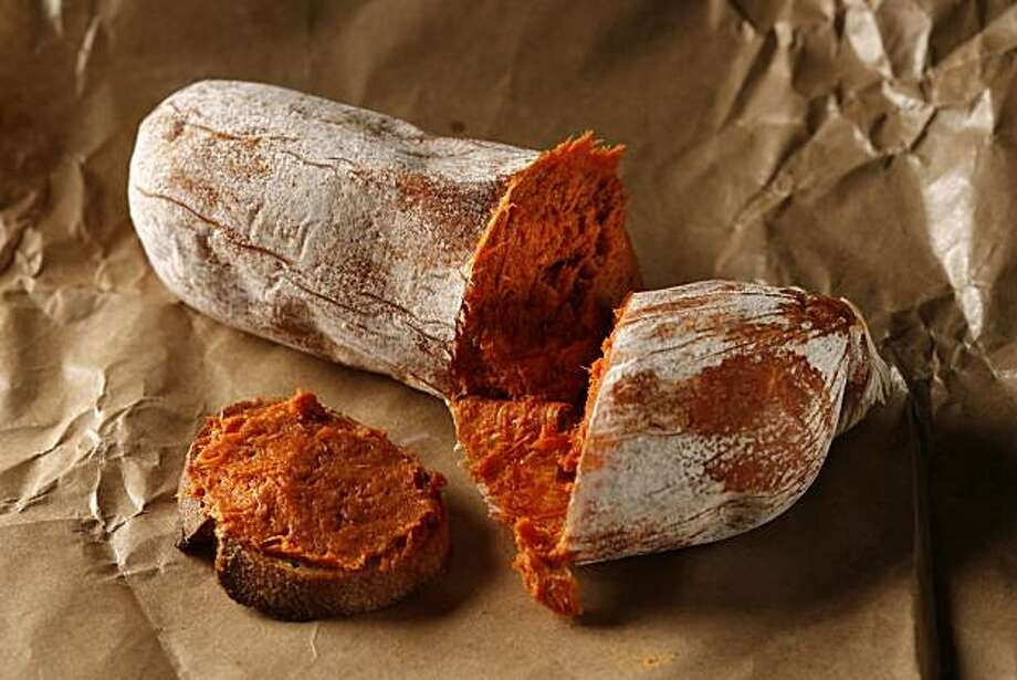 Boccalone NDUJA sausage in San Francisco, Calif., on July 29, 2009. Sausage that can spread. Photo: Craig Lee, The Chronicle