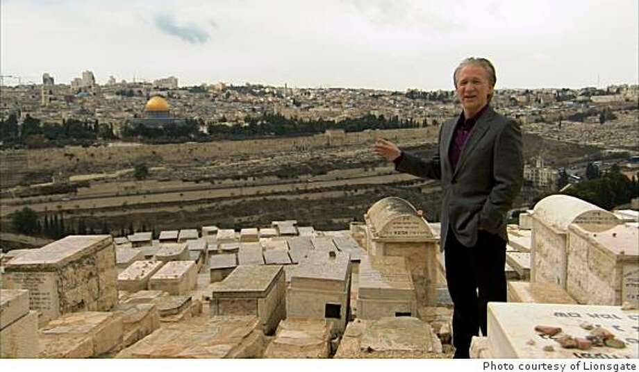 Bill Maher at the Mount of Olives in RELIGULOUS. Photo: Photo Courtesy Of Lionsgate