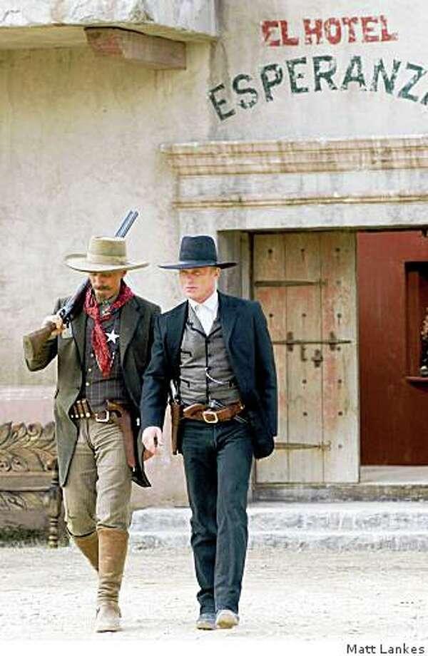 Viggo Mortensen, left, as Everett Hitch and Ed Harris, right, as Virgil Cole in Harris' adaptation of Robert B. Parker's novel ?Appaloosa.? Photo: Matt Lankes, MATT LANKES/The Kobal Collectio