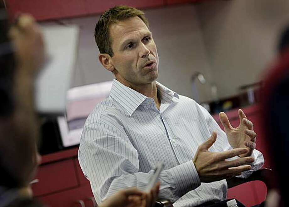 Trent Baalke discussed his approach to the upcoming draft. Trent Baalke met with reporters at the 49ers headquarters in Santa Clara, Calif. Thursday April 15, 2010. Trent Baalke is the 49ers new player personnel chief and his first big task is the NFL draft. Photo: Brant Ward, The Chronicle