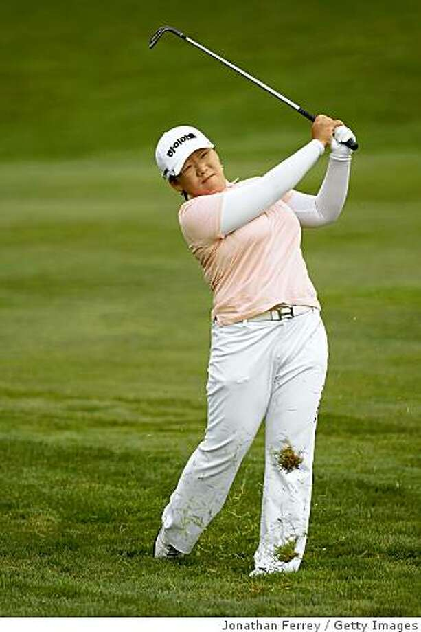 HALF MOON BAY, CA - OCTOBER 02:  Ja-Yai Shin hits her second shot on the second hole during the first round of the Samsung World Championship at the Half Moon Bay Golf Links Ocean Course on October 2nd, 2008 in Half Moon Bay, California.  (Photo by Jonathan Ferrey/Getty Images) Photo: Getty Images
