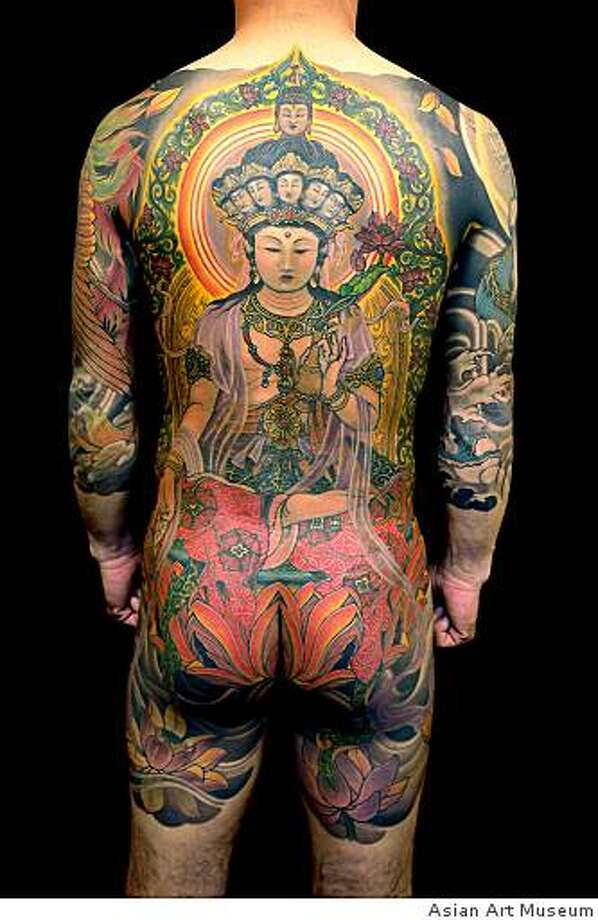 MATCHA: Japanese Tattoo, Asian Art Museum 10/2Japanese tattoo artist Shige spent 96 hours on this commission for Kazunobu Nagashima, who will show the results in person at the Asian Art Museum this evening. Photo: Asian Art Museum