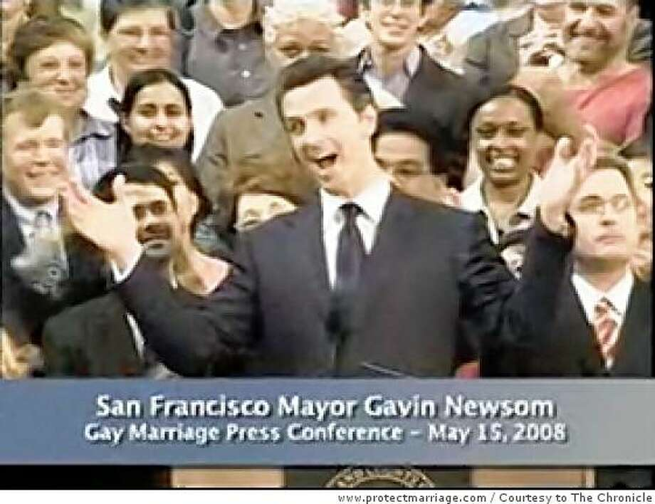 This is a frame grab from a Yes on 8 Protect Marriage Committee tv ad in favor of Proposition 8, the constitutional amendment on the Nov. 4 ballot to ban same-sex marriages Photo: Www.protectmarriage.com, Courtesy To The Chronicle