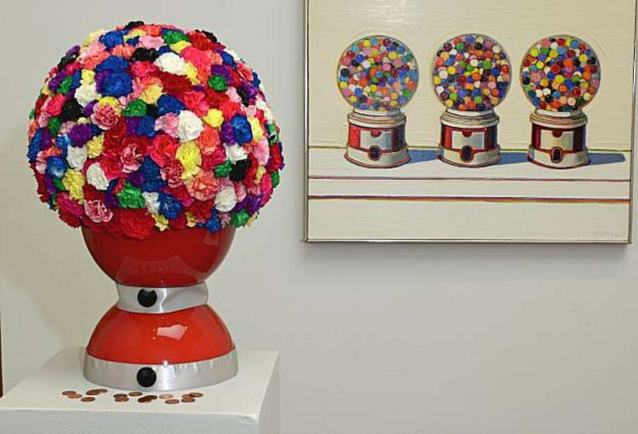 "This arrangement from the 2006 Bouquets to Art was inspired by Wayne Thiebaud's ""Three Machines"" (1963). This year's event takes place April 20-24 at the de Young Museum. Photo: Courtesy Bouquets To Art"