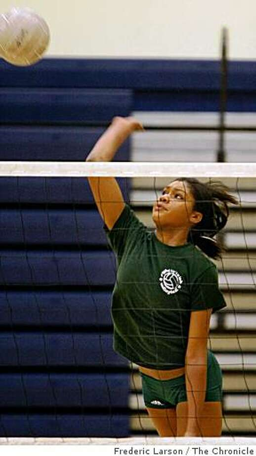 Gabby Jolly of Sacred Heart Cathedral girls volleyball is one of the stand outs of the team. Photo: Frederic Larson, The Chronicle