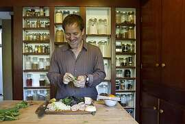Eric Gower cooks in his kitchen in San Anselmo, Calif., on Wednesday, April 7, 2010.