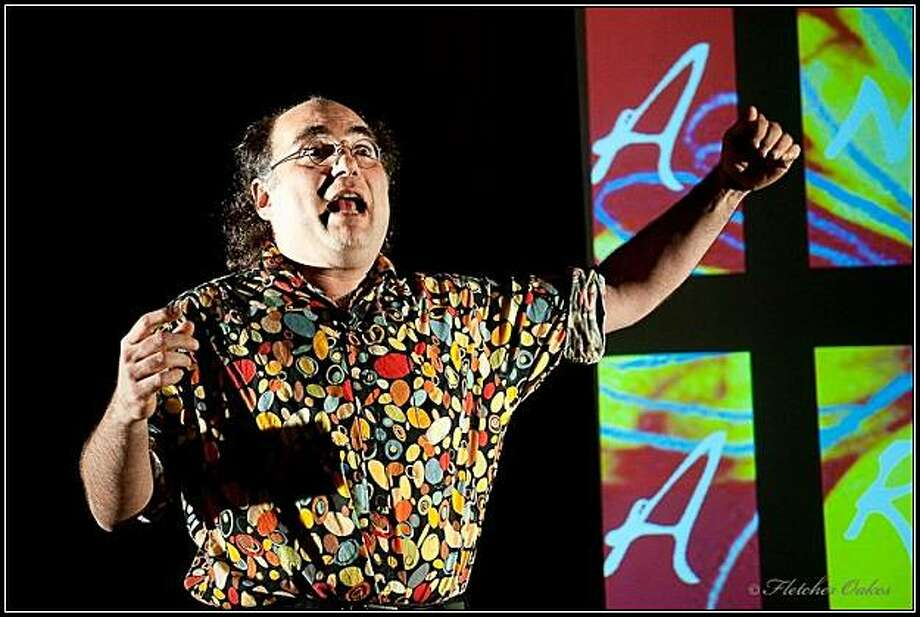 """Josh Kornbluth performs his new monologue """"Andy Warhol: Good for the Jews?"""" Photo: Fletcher Oakes"""