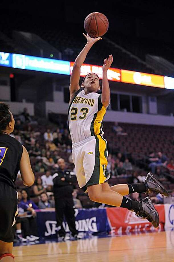 Hailie Eackles from Pinewood in Los Altos Hills puts up a shot during the first half of the Girls Division V CIF State Basketball Championship game against St. Anthony in Long Beach, Saturday, March 27, 2010, in Bakersfield, Calif. Photo: Mark J. Terrill, AP