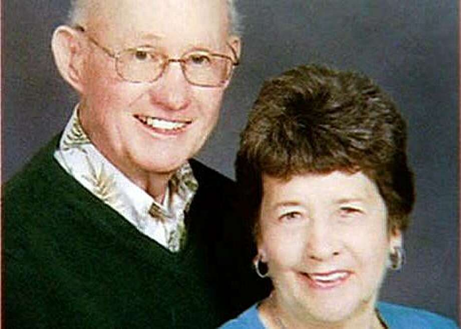 Photo of James, 79, and Janet, 75, Hogan, who were involved in a vehicle rollover accident in Walnut Creek, Calif., on Sunday, April 11, 2010. The driver of the vehicle, their son, Tim Hogan, 40, was killed when their car rolled over into a canal while James and Janet were ejected from the vehicle. Janet was pulled from the canal by emergency personnel, while James is missing and presumed dead. Photo: ABC7 News, Special To The Chronicle
