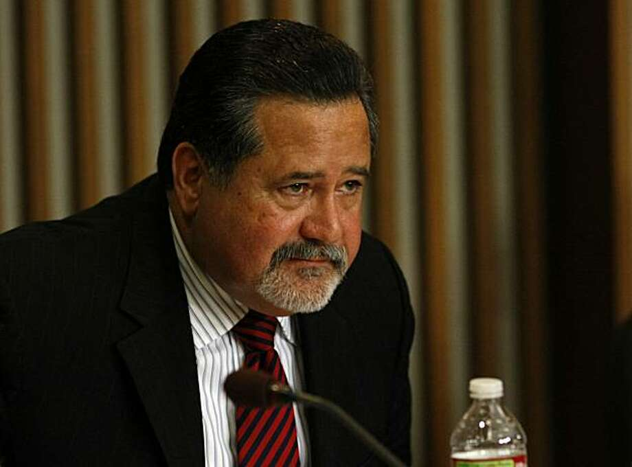 Superintendent of Schools, Carlos Garcia listens to members of the community, Tuesday Jan. 26, 2010, in San Francisco, Calif.  Garcia announced the plan to severely cut the spending across the district by 113 million dollars in the next two years. Photo: Lacy Atkins, The Chronicle