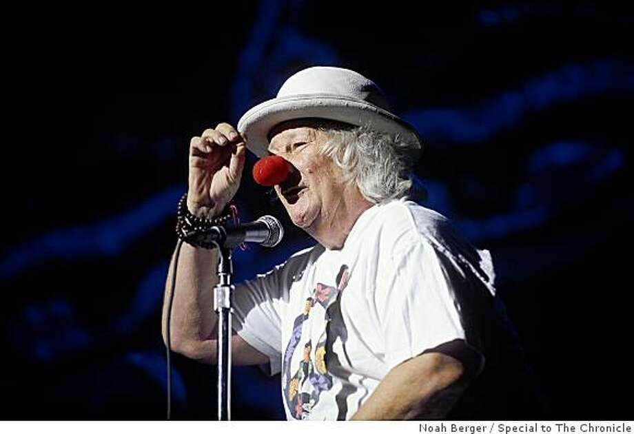 Wavy Gravy speaks at the Seva Foundation's 30th Anniversary concert on Saturday, Sept. 27, 2008, at the Paramount Theatre in Oakland, Calif. Photo: Noah Berger, Special To The Chronicle
