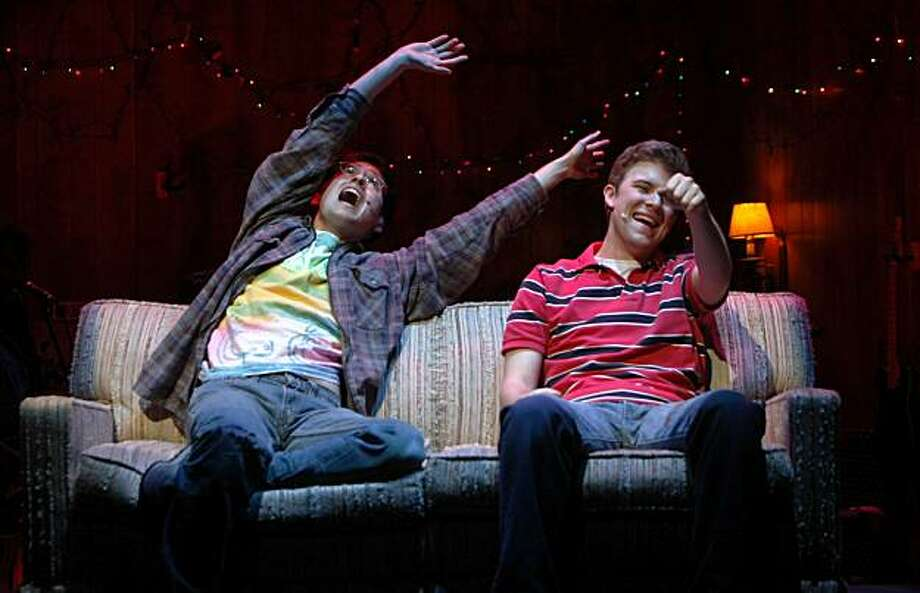 "Ryder Bach and Jason Hite perform in the musical ""Girlfriends"", Thursday April 8, 2010, at the Berkeley Repertory Theatre, in Berkeley, Calif. The world premiere about teenage boys falling in love opens April 9 and runs through May 9. Photo: Lacy Atkins, The Chronicle"