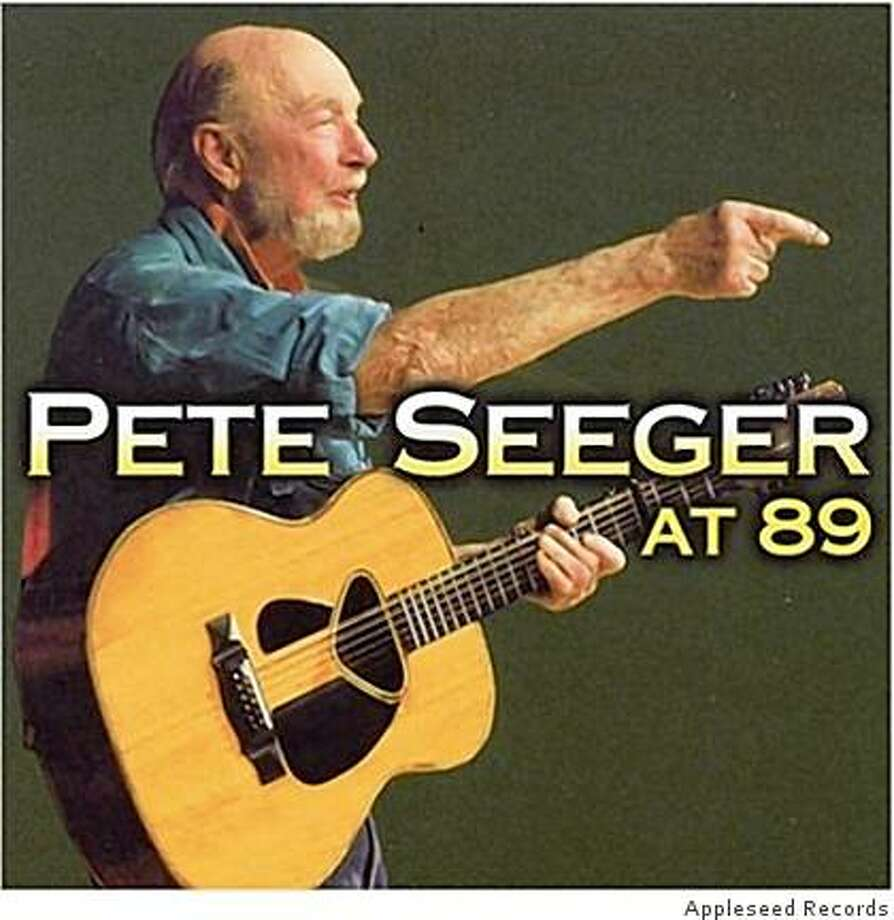 CD cover: Pete Seeger at 89 Photo: Appleseed Records