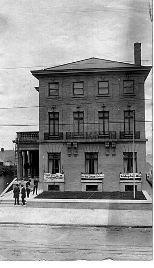 Wells Fargo Nevada National Bank and the Union Trust Company relocated after the 1906 San Francisco fire and earthquake to 2020 Jackson St., the home of Emanuel Heller. The law offices of Heller Ehrman also squeeaed into the home.