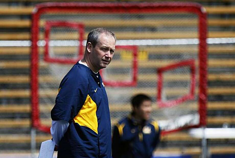 The University of California new defensive coordinator Clancy Pendergast looks on during spring workouts Saturday April 3, 2010 at Memorial Stadium in Berkeley Ca. Photo: Lance Iversen, The Chronicle