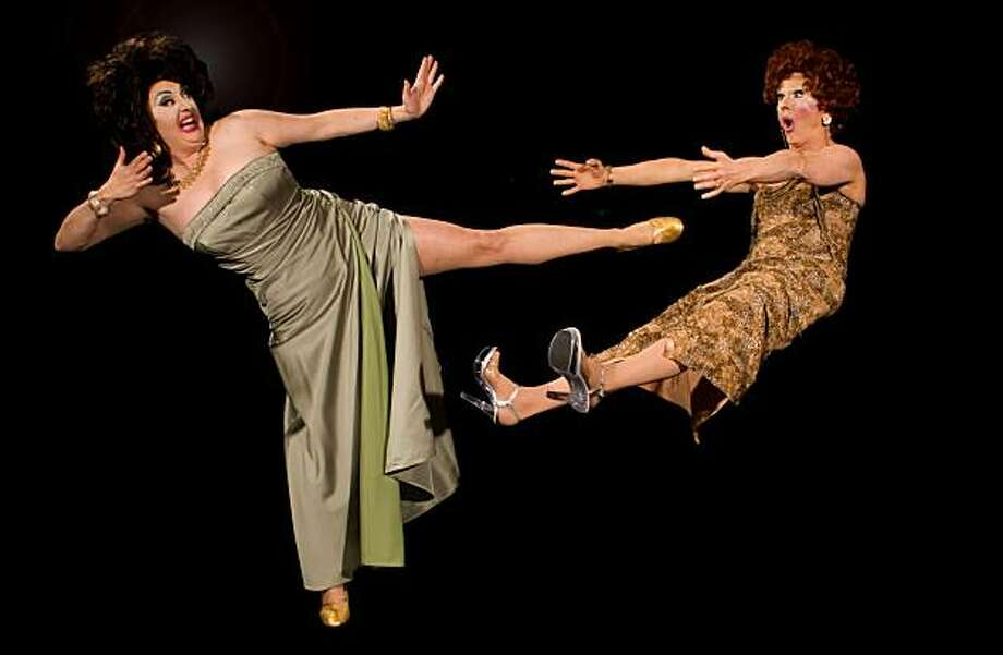 """Cindy Goldfield (left) and Arturo Galster in """"Scalpel!"""" at Brava Photo: Kent Taylor"""