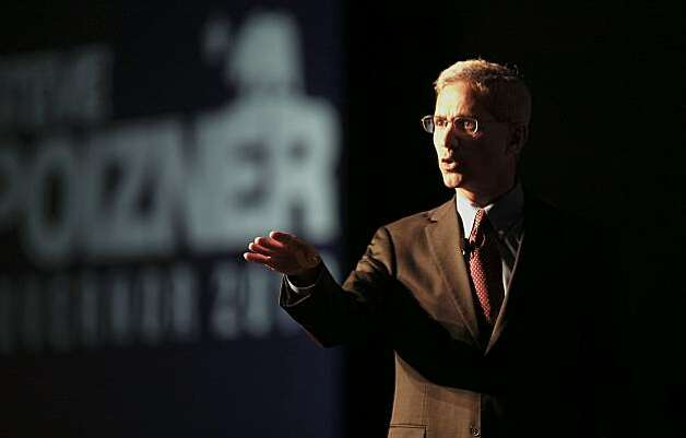 California Gubernatorial candidate Steve Poizner addresses the gathering during the California Republican Party 2010 Spring Convention in Santa Clara, Calif. on Saturday Mar. 13, 2010. Photo: Michael Macor, The Chronicle
