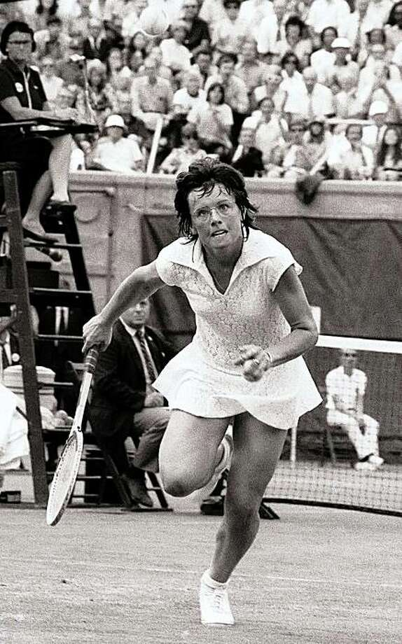 Billie Jean King: The groundbreaking tennis star was outed in 1981 after being sued for 'palimony' by her secretary, with whom she was having a relationship. Photo: HARRY HARRIS, AP