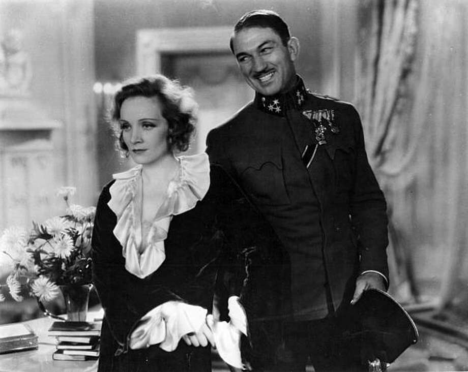 "Marlene Dietrich and Victor McLagen in ""Dishonored."" Photo: Paramount Pictures 1931"