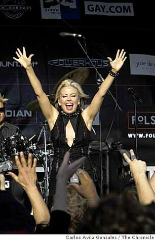 Terri Nunn of Berlin takes the stage to perform at the Folsom Street Fair in San Francisco, Calif., on Sunday, September 28, 2008. Photo: Carlos Avila Gonzalez, The Chronicle