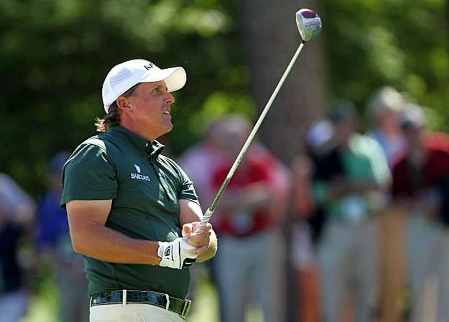 AUGUSTA, GA - APRIL 10:  Phil Mickelson watches a shot on the eighth hole during the third round of the 2010 Masters Tournament at Augusta National Golf Club on April 10, 2010 in Augusta, Georgia. Photo: Jamie Squire, Getty Images