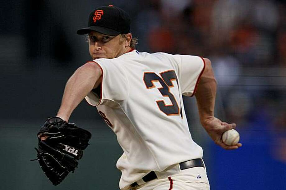 Giants pitcher Todd Wellemeyer starts against the Atlanta Braves at  AT&T Park in San Francisco on Saturday. Photo: Michael Macor, The Chronicle