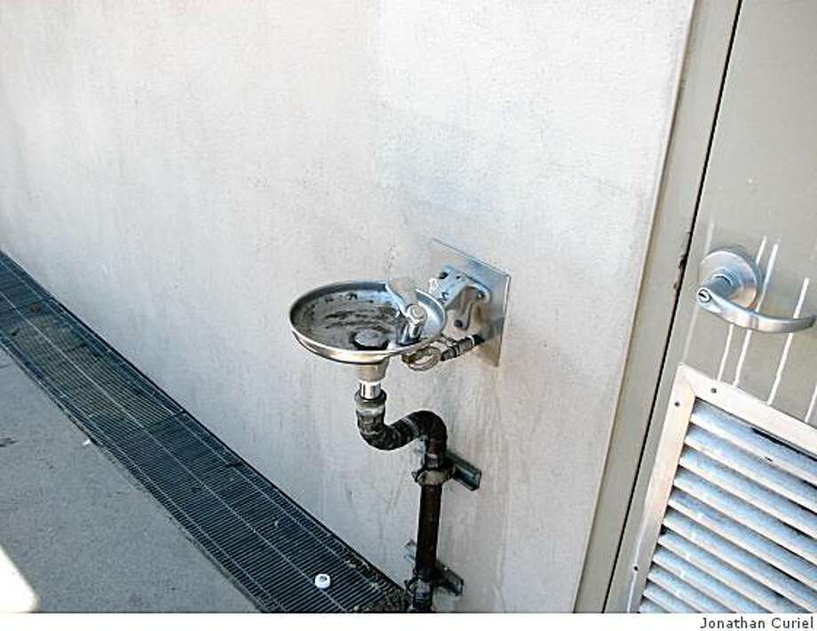 Drinking fountain at West Portal Playground Photo: Jonathan Curiel
