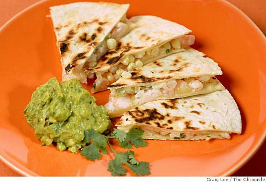 Shrimp Quesadilla, in San Francisco, Calif., on September 11, 2008. Photo: Craig Lee, The Chronicle