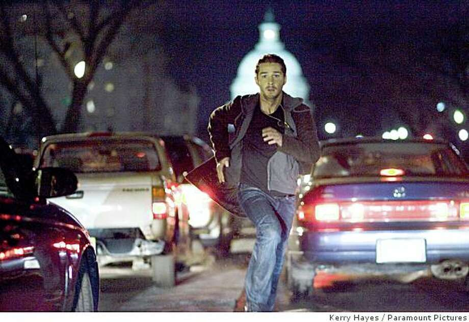 "Shia LaBeouf is shown in a scene from the thriller ""Eagle Eye."" Photo: Kerry Hayes, Paramount Pictures"