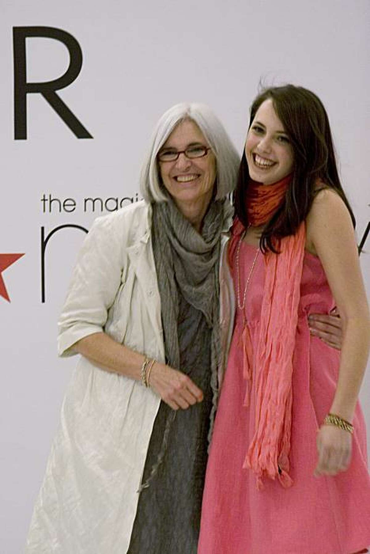 Eileen West with daughter Sasha, 17, who modeled at Macy's in San Francisco March 27.