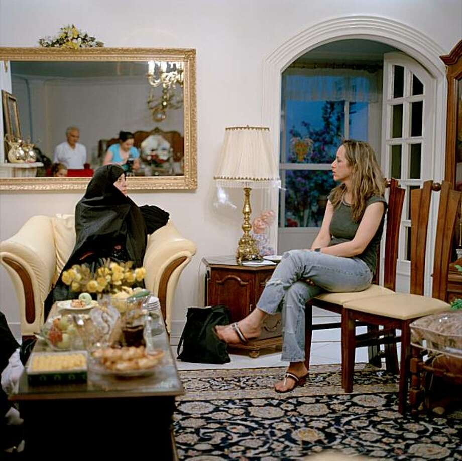 Artist Sanaz Mazinani captures a private moment in an Iranian home. Photo: Sanaz Mazinani