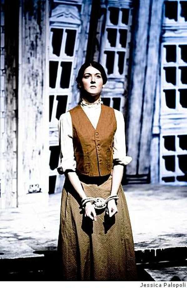 "Alexandra Creighton as Russian revolutionary Vera in Chris Jeffries' ""Vera Wilde"" at Shotgun Players. Photo: Jessica Palopoli"