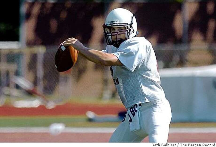Brett Knief, seen in this Sept. 4, 2007 file photo, has taken over the quarterbacking duties at Don Bosco High School in Ramsey, New Jersey. Photo: Beth Balbierz, The Bergen Record