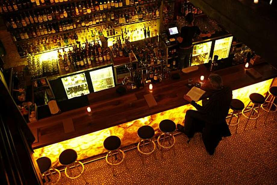 The bar area at Nihon Whisky Lounge in San Francisco, Calif., on Tuesday, March 31, 2010. For a Food & Wine piece on Asian whiskies. The story details the rise of these whiskies, especially Japanese whiskey. Nihon specializes in these. Photo: Carlos Avila Gonzalez, The Chronicle
