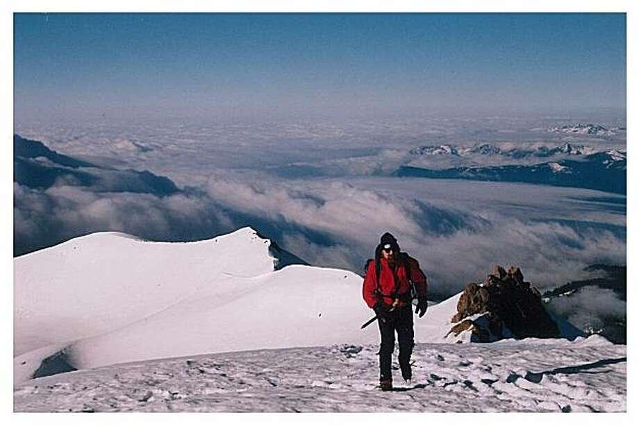 Tom Stienstra hiking at 11,500 feet at Green Butte Ridge on Mount Shasta. Photo: Courtesy Photo