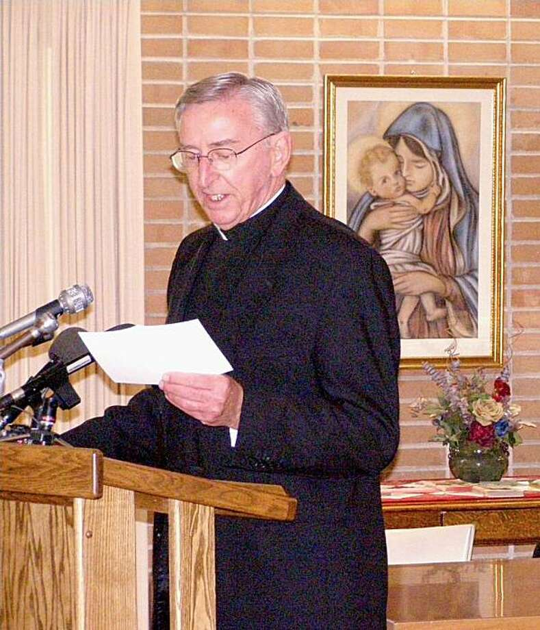 """In this photo taken Oct. 2007, Monsignor Victor Balke, the-then bishop of the Crookston diocese, announces his retirement at Mount St. Benedict in Crookston. Minn. On Dec. 21, 2006, Balke wrote about the accusations against Rev. Joseph Palanivel Jeyapaulto both Cardinal William Levada, prefect of the Congregation for the Doctrine of the Faith, and the Most Rev. Pietro Sambi, Apostolic Nuncio, the Vatican's ambassador, to the United States.  A week later, Rev. Sambi wrote to Bishop Balke: """"I assure you that this material has already been forwarded to the Holy See.""""  It's not clear what actions, if any, the Vatican took. Photo: Mike Christopherson, AP"""