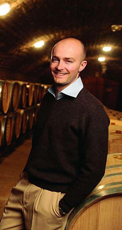 Erwan Faiveley, proprietor of Domaine Faiveley in Burgundy, in his cellars. Photo: Jean-Louis Bernuy/Courtesy Wilso
