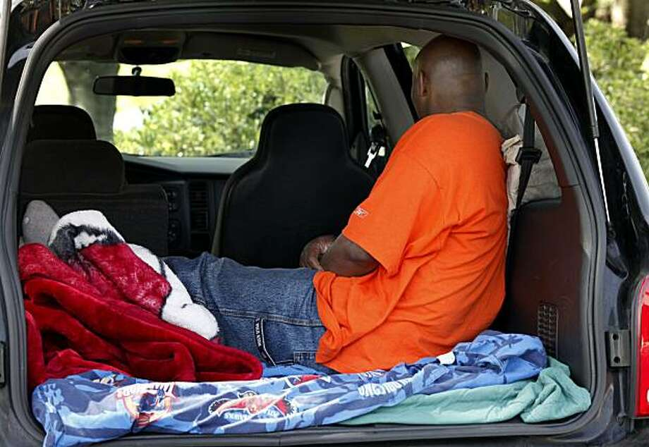 Earl Taylor often sleeps in the back of his truck in Fairfield, CA because he cannot live with his wife.  Her home is less than 2000 feet from a school or park. Earl Taylor is one of the state's more than 2300 homeless sex offender parolees, men who legally don't have a place to live because of Prop. 83 or Jessica's Law. Photo: Brant Ward, The Chronicle