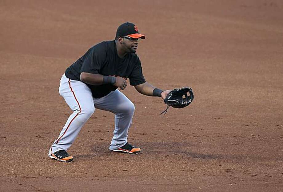 SURPRISE, AZ - MARCH 15:  Infielder Pablo Sandoval #48 of the San Francisco Giants in action during the MLB spring training game against the Texas Rangers at Surprise Stadium on March 15, 2010 in Surprise, Arizona. The Giants defeated the Rangers 8-5. Photo: Christian Petersen, Getty Images