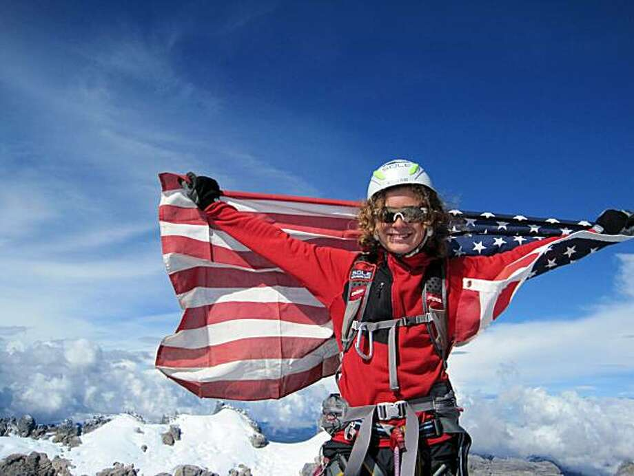 In this Sept. 1, 2009 photo provided by the Romero family, Jordan Romero poses at the Carstensz Pyramid summit, Oceania's highest peak at 16,024 feet, making Jordan the youngest person to summit. The 13-year-old California boy plans to try to climb Mount Everest in a quest to reach the summits of the highest peaks on all seven continents. (AP Photo/courtesy of Romero family)  NO SALES Photo: AP