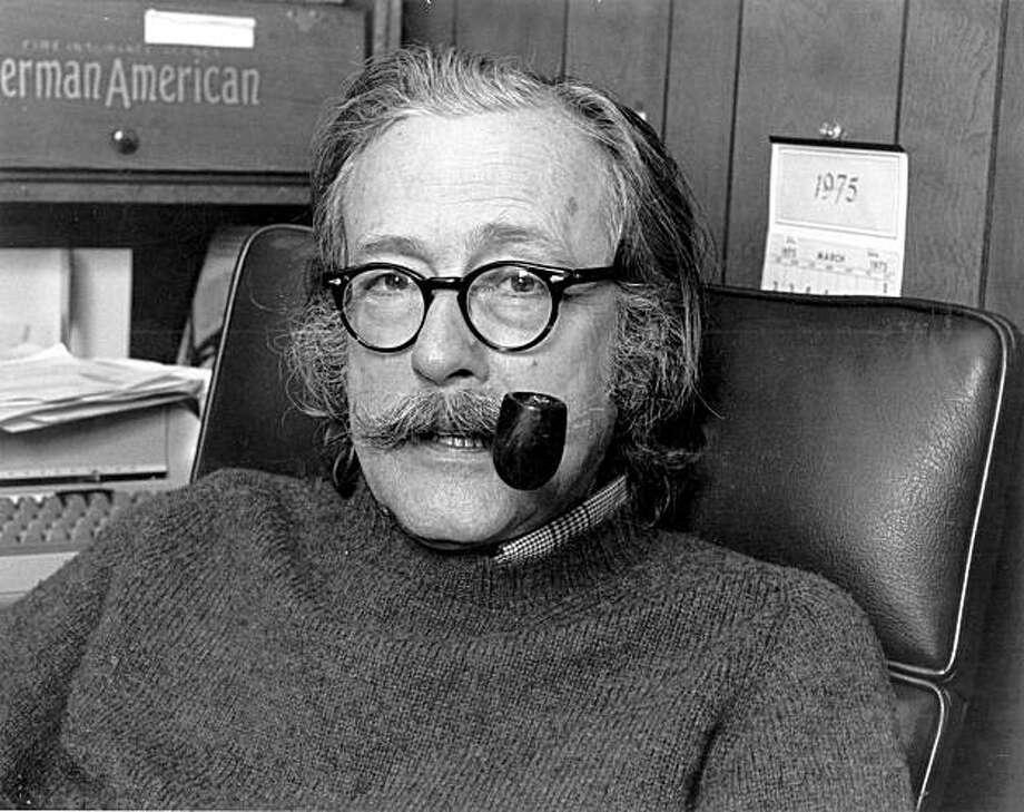 Ralph Gleason former SF Chronicle Jazz Critic 1950-1975. Photo: HANDOUT