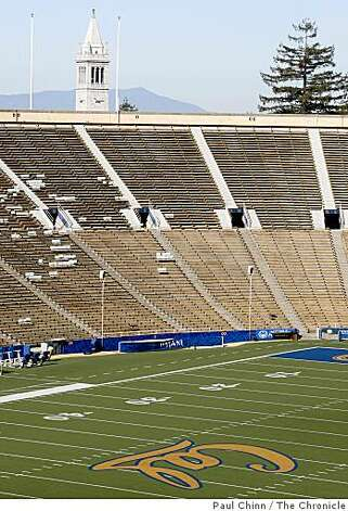 Cal's Memorial Stadium is seen with the Campanile in the background in Berkeley, Calif., on Wednesday, Sept. 24, 2008. Photo: Paul Chinn, The Chronicle