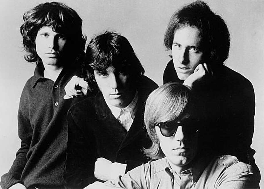 """Ray Manzarek, the keyboardist of the Doors (front with sunglasses), celebrates the band's legacy with the new documentary, """"When You're Strange."""" Photo: Rhino"""