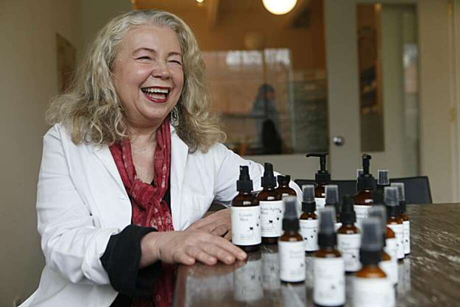 "Marie Nadeau, a former high school chemistry teacher who created her own ""organic"" skin care line, Marie Veronique Organics, sits for a portrait in her lab on Tuesday Feb. 23, 2010 in San Francisco, Calif. Photo: Mike Kepka, The Chronicle"